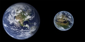 Earth and Terraformed Mars